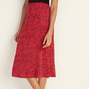 NWT lightweight slip midi skirt red old navy small
